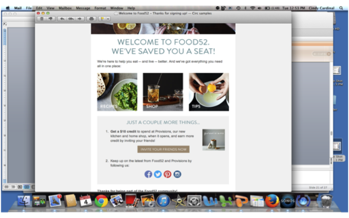 Food52 thank you